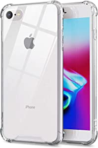 ORASE Ultra Clear Cases Designed for New iPhone SE 2 2020 Case, iPhone 8 Case, iPhone 7 Case [Slim Fit] [Shockproof] Clear Case with Soft Bumper & Hard Back Cover (Crystal Clear)