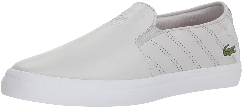 Lacoste Women's Gazon Sneaker B077YPH541 9 M US|Grey/White Leather