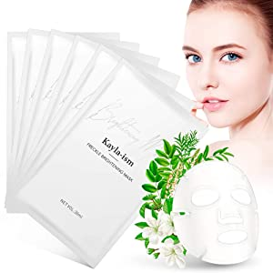 Kayla-Ism Facial Mask | Repairing Skin in 28 days | Collagen Mask Sheet with Jasmine essence| Long last Moisturizing Face Mask | Anti Aging Brightening Face Sheet Mask | Natural Face Mask Pack