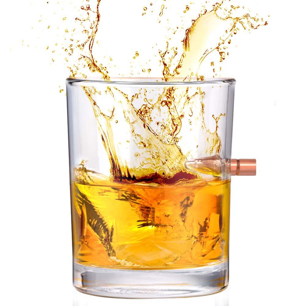 Kollea 308 Bullet Hand-Blown Whiskey Glass Set Of 2