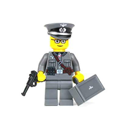 Battle Brick Wehrmacht Officer German WW2 (SKU62) Custom Minifigure: Toys & Games [5Bkhe0804602]