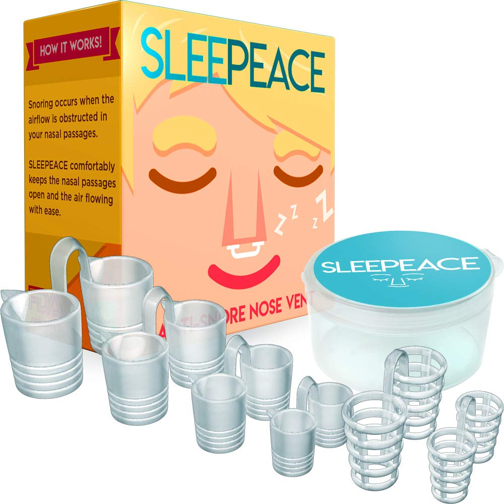 Improved Anti Snore Nose Vents - Medically Proven to Help Stop Snoring - Sleep Aid Device - Snore Stopper - by JETTEO