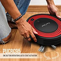 Pyle PureClean Automatic Robot Vacuum Cleaner - Upgraded Robotic Auto Home Cleaning for Clean Carpet Hardwood Floor w/Self Activation and Charge Dock - HEPA Pet Hair & Allergies Friendly - PUCRC95 V2 from Pyle Home