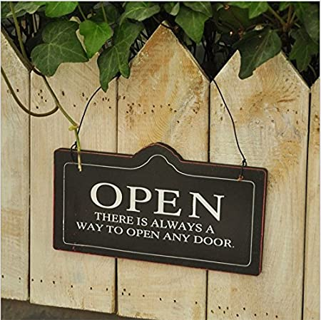 Cartel con diseño de doble cara de abierto/cerrado para casa ...