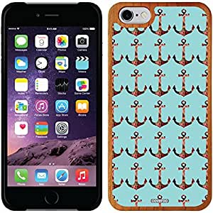 fashion case iphone 5c Madera Wood Thinshield Case with Anchor Pattern Design
