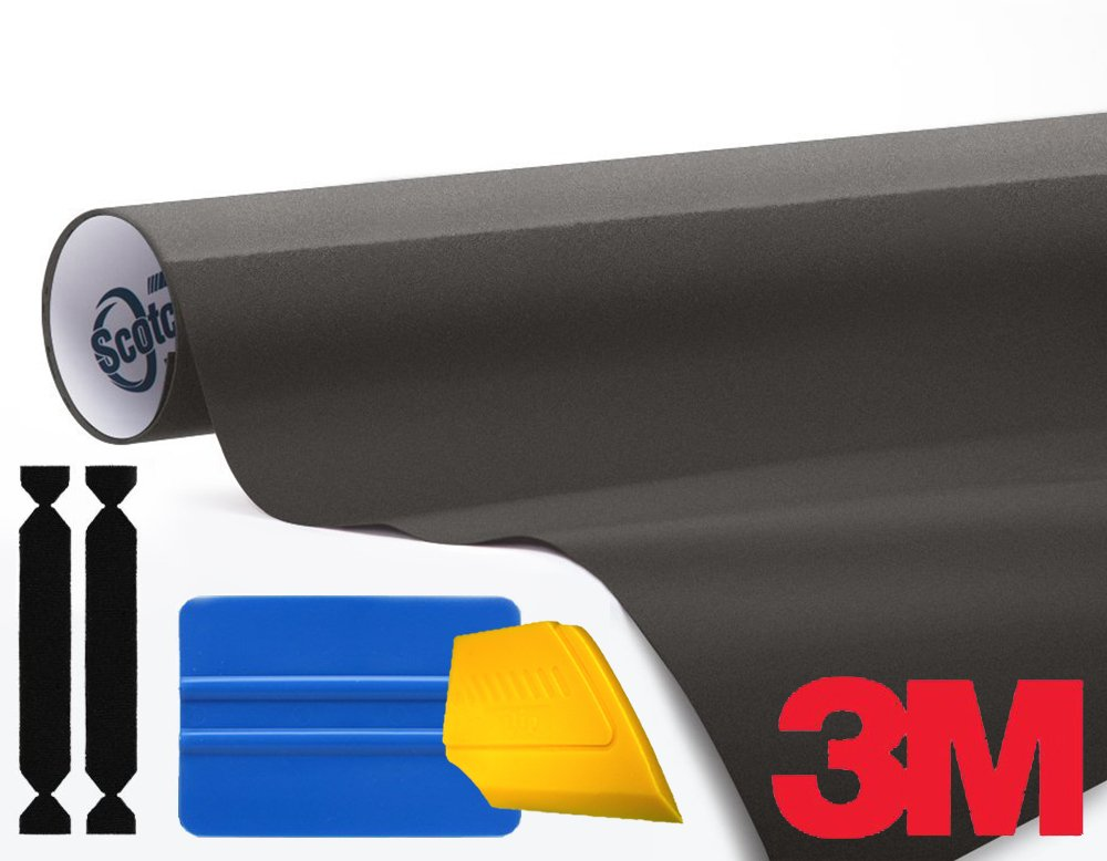 3M 1080 Matte Metallic Charcoal Air-Release Vinyl Wrap Roll Including Toolkit (2ft x 5ft) VViViD