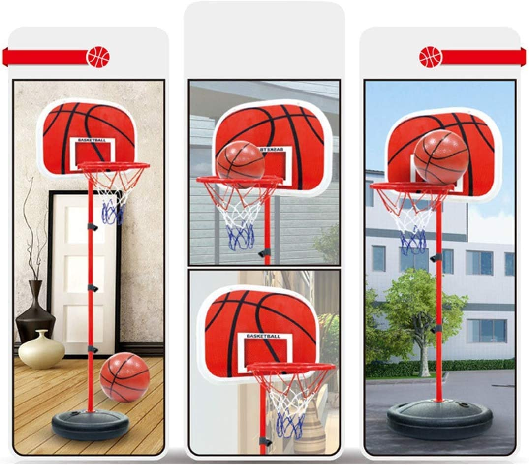 MAJOZ0 Children Basketball Hoop and Stand 100-200CM Height Adjustable Basketball Stand Sports Toy for Kids Gift