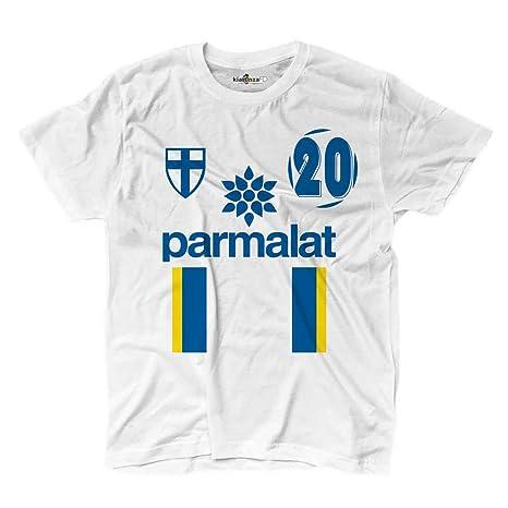 KiarenzaFD Camiseta Camiseta fútbol Vintage Enrico Parma 20 Iglesia Temporada 97 – 98 Leggende, KTS01841_M