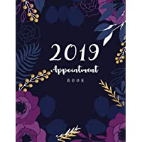 "2019 Appointment Book: 52 Weeks Daily Planner Organizer, Undated Daily Appointment Book, 15-Minute Increments, Hourly Schedule Notebook for Salons, Massage Spas, Nails, Hairdressers Or Businesses, 8-1/2"" x 11"" Large"