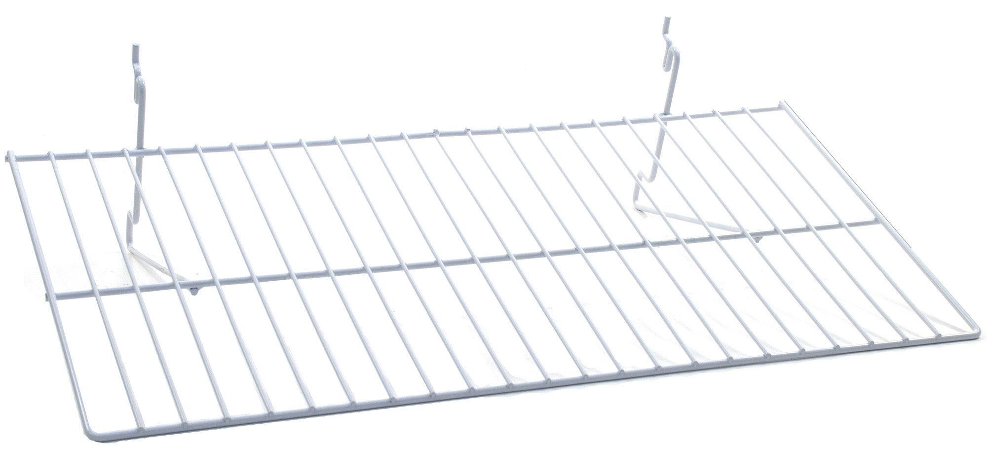 KC Store Fixtures A03067 Flat Shelf Fits Slatwall, Grid, Pegboard, 23-1/2'' W x 12'' D, White (Pack of 10)