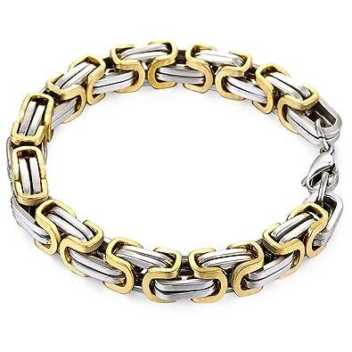 Amazon.com: Trendsmax - Pulsera de acero inoxidable oro ...