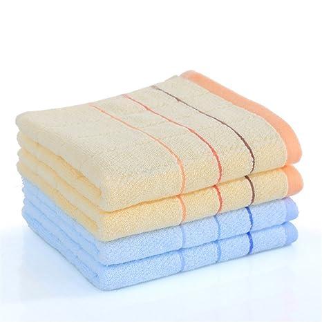 4 toallas de algodón lavar la carala familia niños adultos limpiar manos suaves,B /