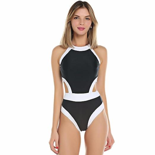f4eaba54d6 Image Unavailable. Image not available for. Color: KIWI RATA 2018 New Women  One Piece Bandage Style Swimsuit Padded Push Up Backless Monokini Bathing