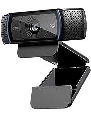 Logitech C920 HD Pro Webcam (Videogespräche und -aufnahmen in Full HD und 1080p, dualer Stereo-Sound, Gaming-Streams, zwei Mikrofone, klein, vielseitig, anpassbar) schwarz