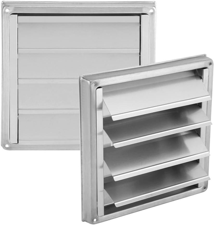 Cubierta de rejilla de ventilación de aire Delaman® 4 solapas de gravedad Cubierta de ventilador de 100x100 mm for astilla de ventilador extractor