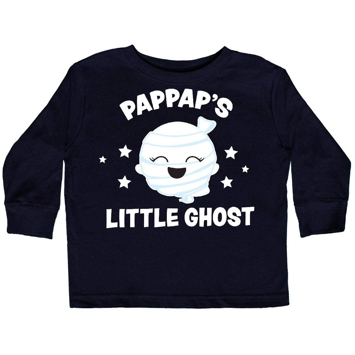 inktastic Cute PapPaps Little Ghost with Stars Toddler Long Sleeve T-Shirt