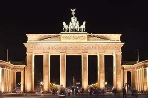 Amazon.com: Brandenburg Gate Night Berlin Germany Painting