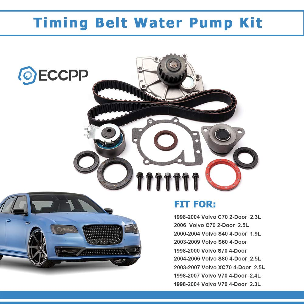 ECCPP Timing Belt Water Pump Kit Fits for Volvo C70 S40 S60 S80 V40 V50 V70  XC70 XC90