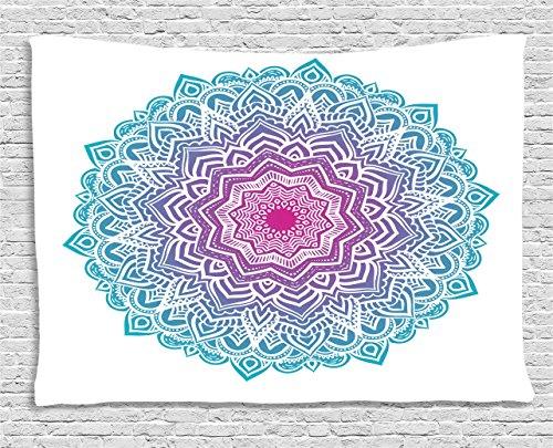 Ambesonne Mandala Tapestry Spiritual Meditation