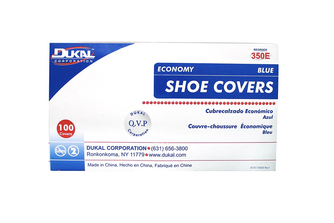 Dukal 350E Shoe Cover, One Size, Blue (Pack of 300)