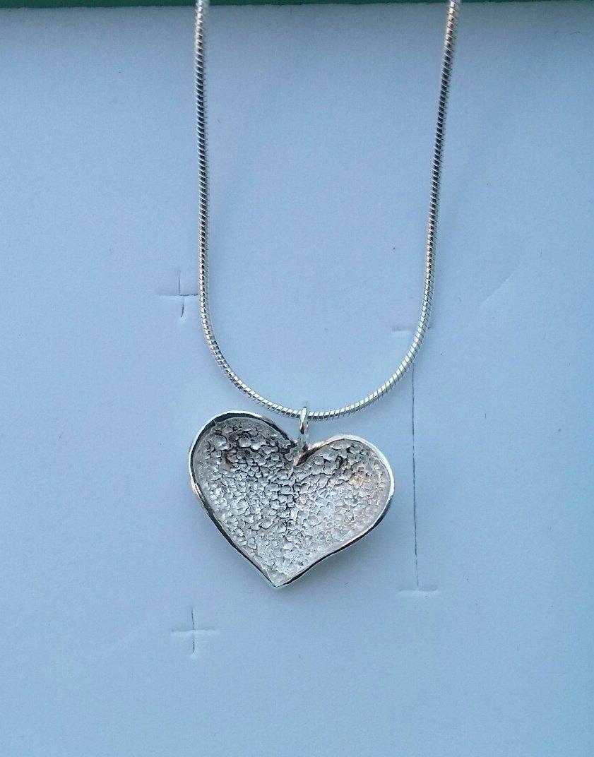 de0ec4b07263f Amazon.com: Silver Heart Pendant ,Sterling Silver 925 Pendant ...