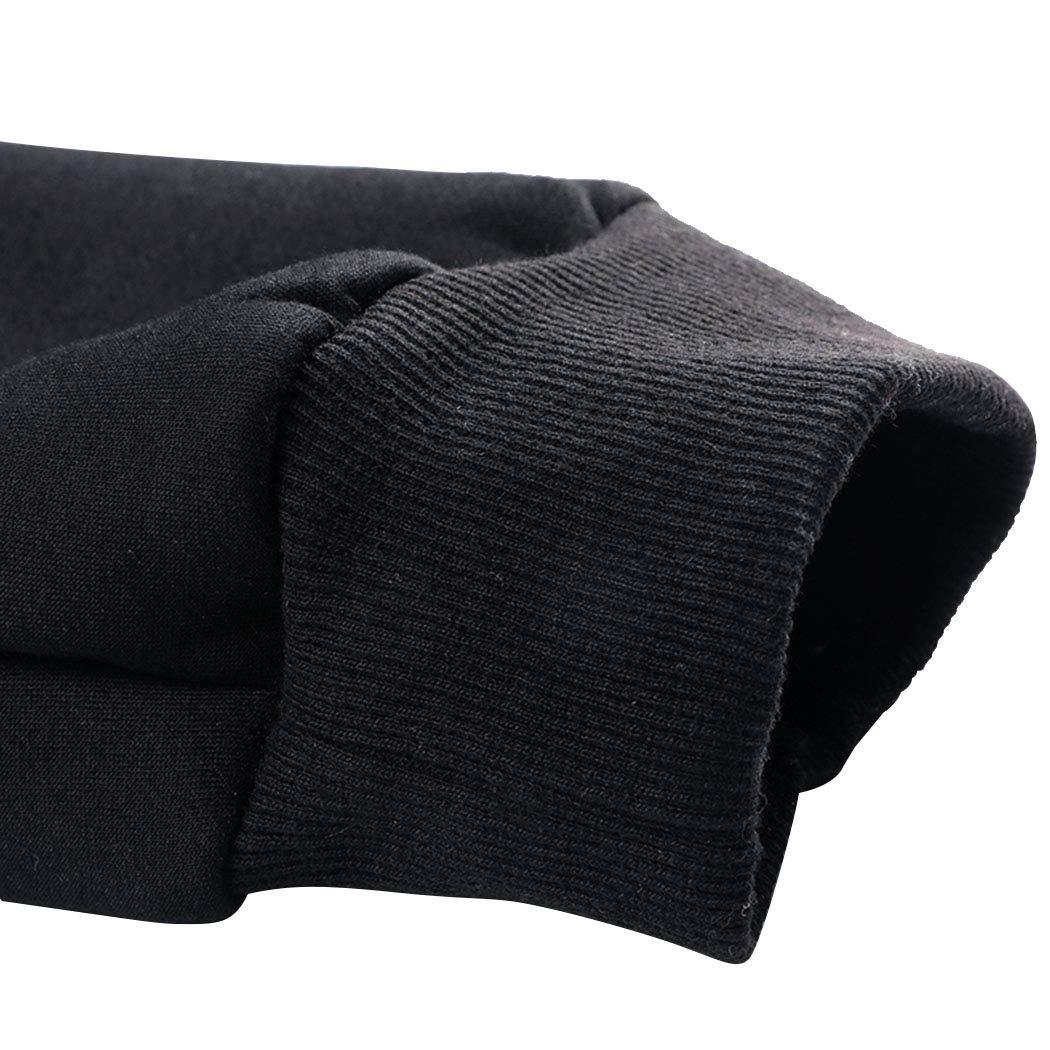 Real Spark Men's Winter Fleece Hoodie Jacket & Jog Pants Set Casual Running Tracksuit Black L by Real Spark (Image #5)