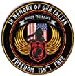 In memory of Our Fallen Small POW MIA Patch - By Ivamis Trading - 4x4 inch