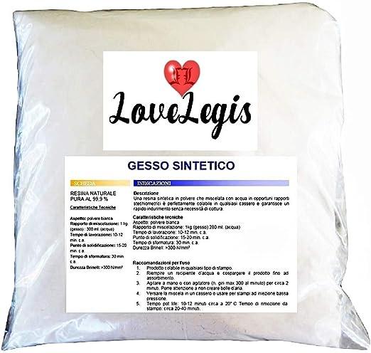 Lovelegis Yeso sintético - no tóxico - moldeable - Extra Duro ...