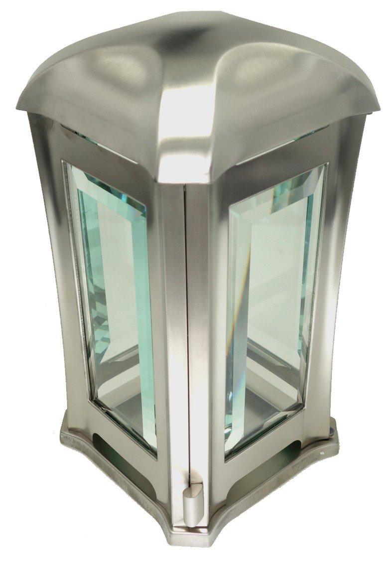 Hochwertige Grablampe aus Edelstahl GrabschmuckWelt
