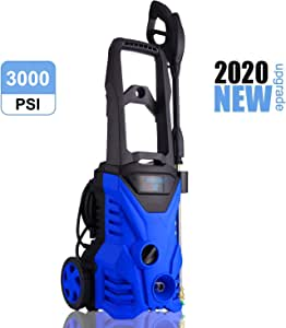 WHOLESUN 3000PSI Pressure Washer 2.4GPM Electric Power Washer Machine with 4 Quick Connect Nozzles Foam Cannon,Best for Cleaning Homes/Cars, Decks, Driveways, Patios (Blue)