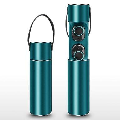 Auriculares inalámbricos con Estuche de Carga para Dispositivos Bluetooth (Azul Oscuro)
