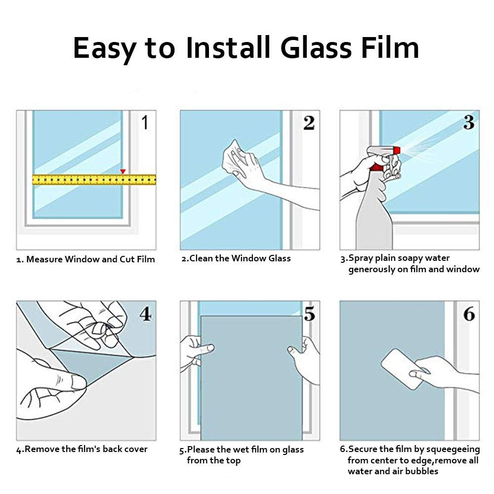Block UV Ray Out,Reuse Safety and Not Falling,Good Decor for Home Bathroom Office Meeting Room Living Room 23.6x78.7 inch Tulip Privacy Window Film,White Frosting Sticker No Glue Static Cling