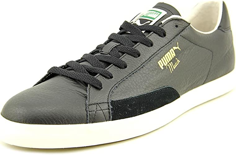 Black Leather Sneakers Shoes UK