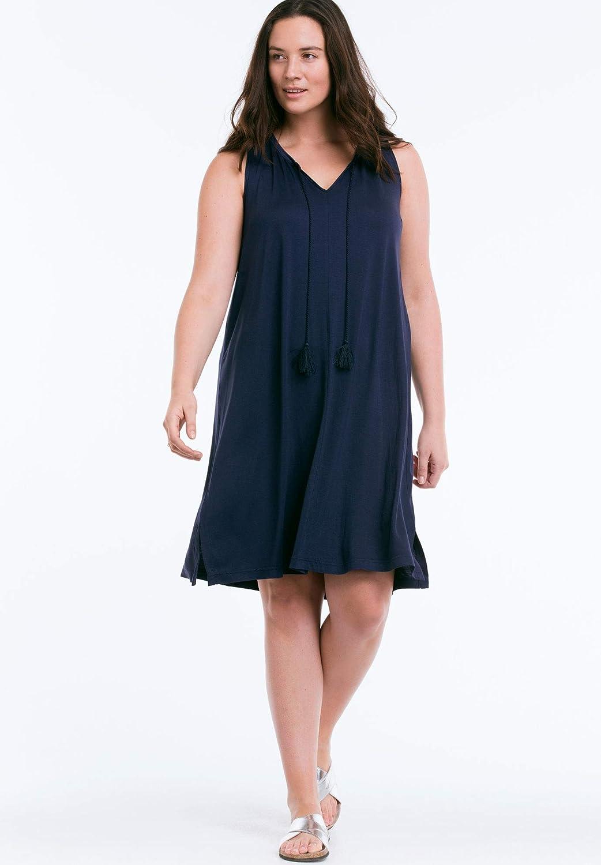 f409c1b8b4e67 Ellos Women s Plus Size Seashore Coverup Dress Navy