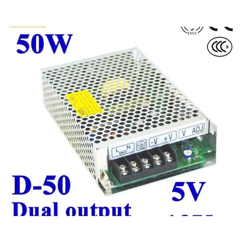 iProTool Dual Output Switching Power Supply 5V 12V 100~120V//200~240V Input LED Power Supply 50W 5V 12V Transformer