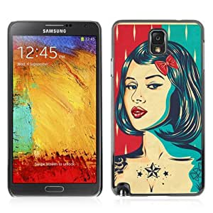 YOYOSHOP [Cool Vintage Pin UP Poster] Samsung Galaxy Note 3 Case