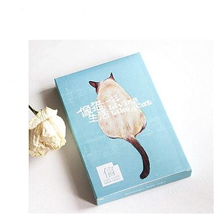 30 hojas/juego Cute Cat Life Design Postal Tarjeta de ...
