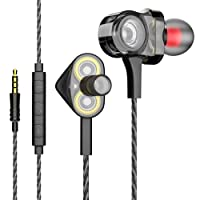 In-ear Headphones Earbuds High Resolution Heavy Bass with Mic for Smart Android Cell Phones Samsung HTC Lg G4 G3 Mp3 Mp4 Earphones