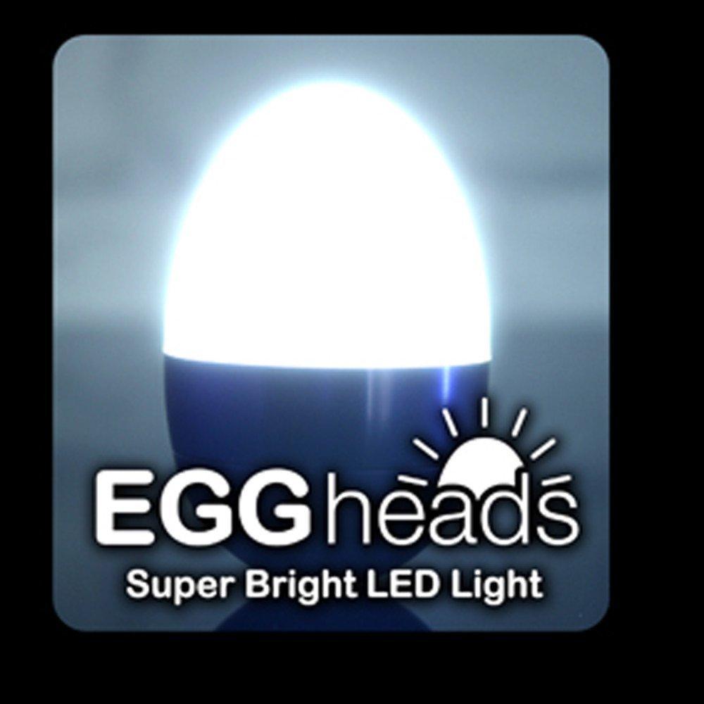 Dzine Eggheads - Super Bright LED Light -Cool Fun Night Light - White glow-for Kids Babies Bedroom Nursery