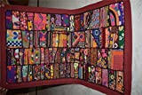 INDIA HANDMADE PATCHWORK WALL HANGING EMBROIDERED VINTAGE TAPESTRY105