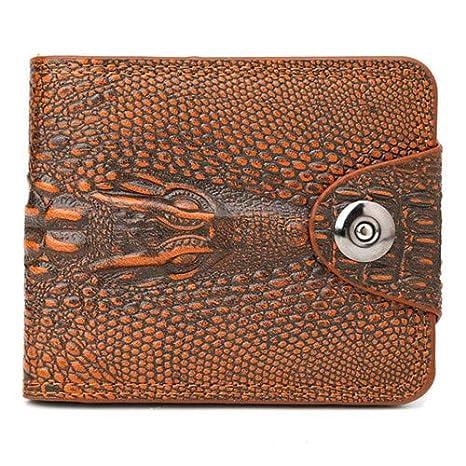 Amazon.com: Moda hombres 3D ligador embrague billetera ID ...
