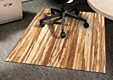 Anji Mountain AMB24061 Strand-Woven Wood Roll-Up Chairmat without Lip, 42 x 48-Inch