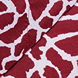 Queen 4 Piece Red Color Printed Pattern Animal Print Sheet Set Attractive Luxurious Beautiful Elegant Bedding Stylish Modern Fitted Flat Fashionable Charming Rich Bright Bed Room Addition