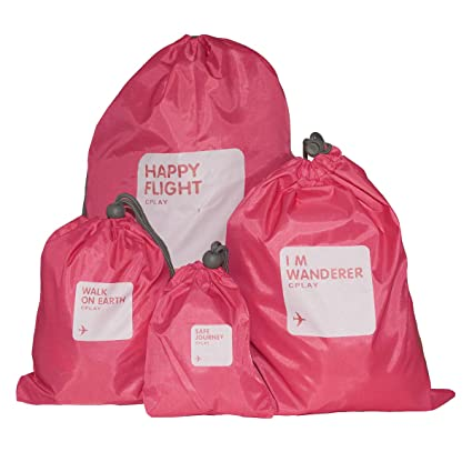 c21bc1e037 Amazon.com  BINGONE Nylon 4-in-1 Drawstring Bags   Ditty Bag   Cord ...