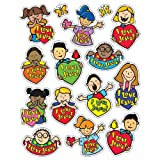 Carson Dellosa Christian I Love Jesus Shape Stickers (5288)