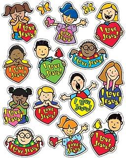 Carson Dellosa Christian I Love Jesus Shape Stickers 5288