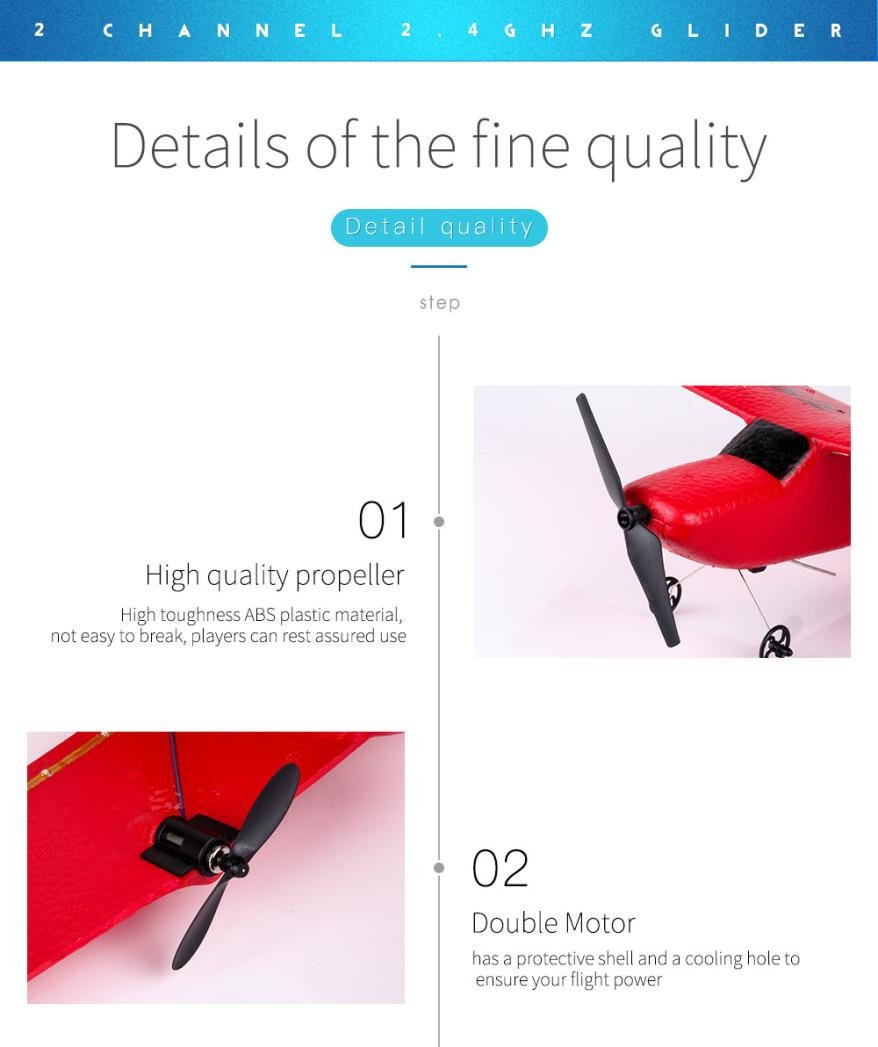 Vanvler Z50 2.4G 2CH Gyro RTF Remote Control Glider 350mm Wingspan EPP Micro Indoor RC Airplane Clearance ! Red