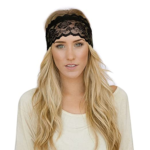 TININNA Cinta de Cabeza?Elastic Encaje Yoga Sports Headband ...