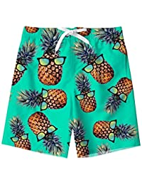 Kids Boys Swim Trunks Mesh Lining Water Resistant Beach Shorts 5-14 Years