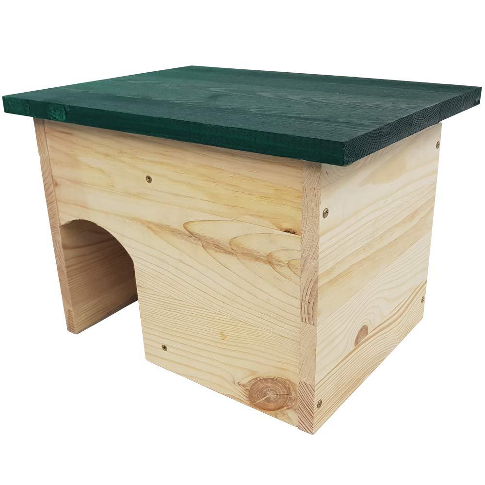 Waidmeister Maison pour hérissons Borsti 35 x 24 x 27 cm - Refuge, abri pour oursins résistant aux intempéries en Bois de pin - Entrée Labyrinthe comme Protection Contre Les prédateurs